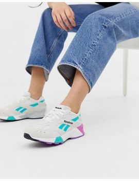 Reebok Aztrek White And Teal Trainers by Reebok