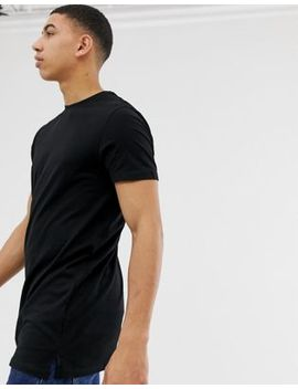 New Look Longline T Shirt In Black by New Look