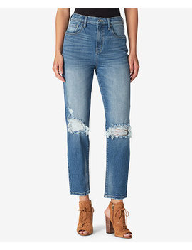 Juniors' Infinite Ripped Straight Leg Jeans by Jessica Simpson