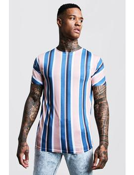 Oversized Vertical Stripe T Shirt by Boohoo