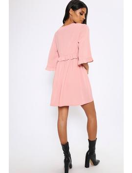 Rose Ruffle Detail Plunge Smock Dress by I Saw It First