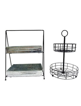 2pk Tiered Serving Stands Gray   Bullseye's Playground™ by Bullseye's Playground