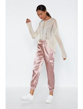 Catch Feelings Satin Cargo Pants by Nasty Gal