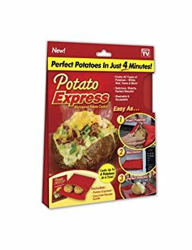 Potato Express 1000188 Microwave Cooker, Perfect Potatoes In Just 4 Minutes – As Seen On Tv, Small, Red by Potato Express