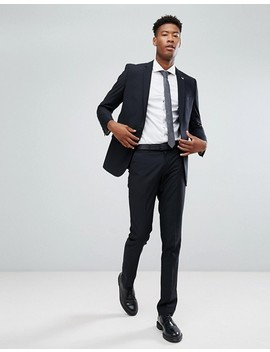 Farah Skinny Suit Jacket In Black by Farah