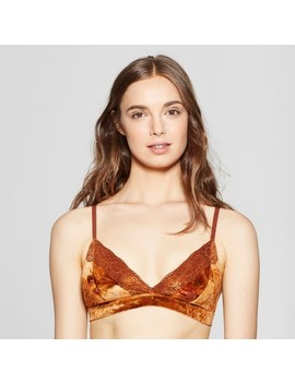 Women's Velvet Triangle Bralette   Xhilaration™ by Xhilaration