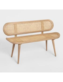 Natural Cane And Mahogany Bench by World Market