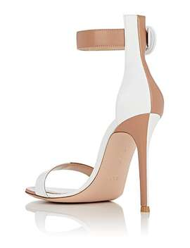 Portofino Colorblocked Leather Ankle Strap Sandals by Gianvito Rossi