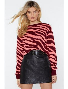 You Animal Zebra Sweater by Nasty Gal
