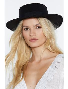 Heads I Win Wide Hat by Nasty Gal