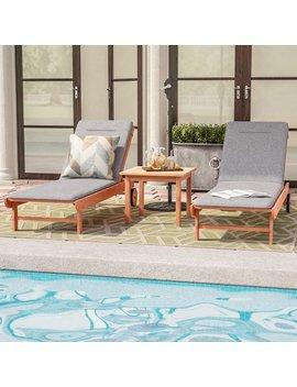 Sol 72 Outdoor Brighton Grey Cushion Patio 3 Piece Single Lounge Set & Reviews by Sol 72 Outdoor