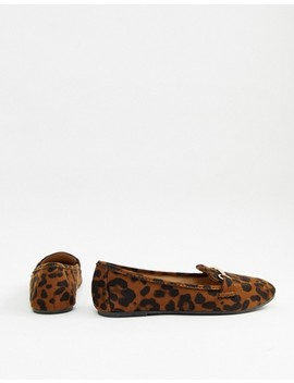 Raid Wide Fit Viera Leopard Snaffle Detail Flat Shoes by Raid