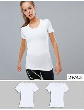 Reebok Two Pack T Shirt In White by Reebok