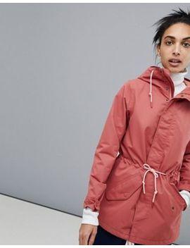 Burton Snowboards Sadie Rain Jacket In Dark Pink by Burton Snowboards