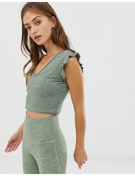 Free People Movement Jesse Frill Crop Top by Top