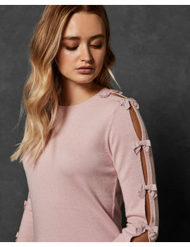 Bow Sleeve Detail Jumper by Ted Baker