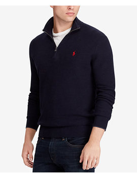 Men's Textured Half Zip Sweater by Polo Ralph Lauren
