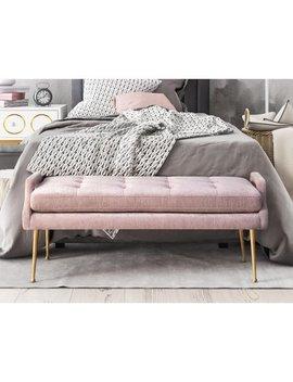 Eileen Blush Slub Velvet Bench by Tov Furniture