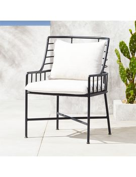 Breton Black Metal Dining Chair by Crate&Barrel
