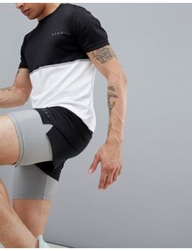Asos 4505 Training 2 In 1 Shorts In Black & Grey With Quick Dry by Asos 4505