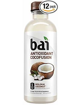 Bai Coconut Flavored Water, Molokai Coconut, Antioxidant Infused Drinks, 18 Fluid Ounce Bottles, 12 Count by Bai