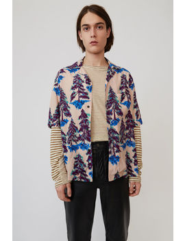 Print Shirt Powder Pink/Blue by Acne Studios