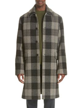 Check Wool Overcoat by Acne Studios
