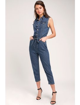 Taper Medium Wash Cropped Denim Jumpsuit by Levi's