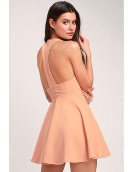Lawson Peach Skater Dress by Lulus