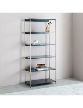 Zane Wide Bookshelf   Gray by West Elm