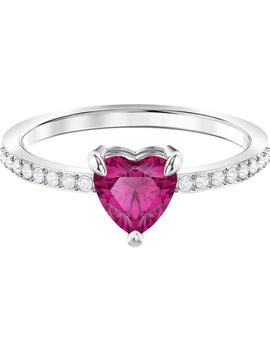 One Ring, Small, Red, Rhodium Plating by Swarovski