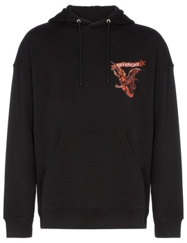 Embroidered Branding Hooded Jumper by Givenchy
