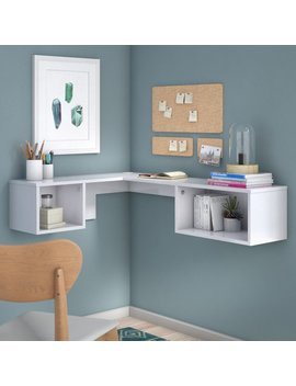 Orren Ellis Chaves Wall Mount Corner Desk & Reviews by Orren Ellis