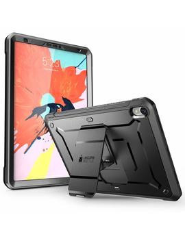 I Pad Pro 12.9 Case 2018, Supcase [Ub Pro Series] With Built In Screen Protector Heavy Duty Full Body Rugged Protective Case For I Pad Pro 12.9 Inch 2018 Release (Not Support Pencil Charging) (Black) by Supcase