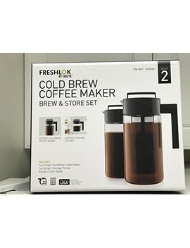 Takeya Cold Brew Iced Coffee Maker, 1 Quart, Black (2) by Takeya