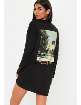 Black Bad Influence Oversized Mini Dress by Missguided