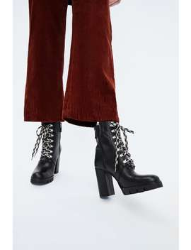 Leather Hiking Style Heeled Ankle Boots  View All Woman Shoes Sale by Zara
