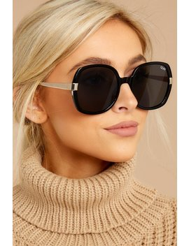 Gold Dust Black Smoke Sunglasses by Quay Australia