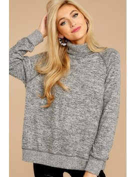 Give And Take Grey Turtleneck Top by Happy Days Clothing