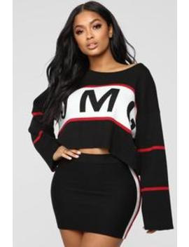 Omg Skirt Set   Black by Fashion Nova