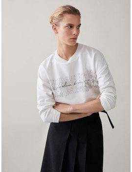 Le Charme De Una Vie Cotton Sweatshirt by Massimo Dutti