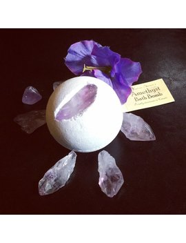 Amethyst Crystal Magic Spell Vegan Bath Bomb by Etsy