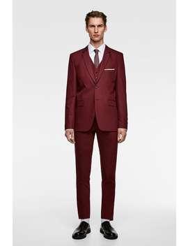 Colete De Conjunto Chintz Confort Tailoring  Blazershomem New Collection by Zara
