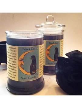 Black Cat Good Luck Hoodoo Spell Magic Candle by Etsy