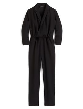 Crepe Lapel Jumpsuit by J.Crew