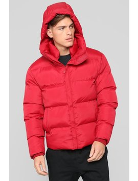 Classic Puffer Jacket   Red by Fashion Nova