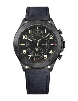 Men's Hudson Quartz Watch, 44mm by Tommy Hilfiger