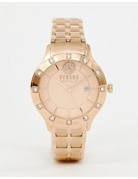 Versus Versace Brackenfell Sp4604 0018 Bracelet Watch In Rose Gold by Versus Versace