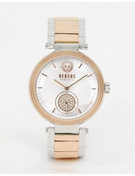 Versus Versace Star Ferry Vsp791618 Bracelet Watch In Mixed Metal by Versus Versace