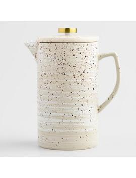 Speckled Reactive Glaze Ceramic French Press Coffee Maker by World Market